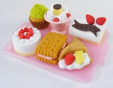 Japanese Iwako Cake Dessert Party Eraser Set #0891 S-3018