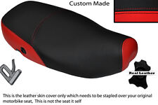 RED & BLACK CUSTOM FITS PIAGGIO VESPA LX 125 DUAL LEATHER SEAT COVER