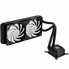 SilverStone All-In-One Liquid CPU Cooler with Dual Adjustable PWM Fan NEW