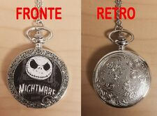 NIGHTMARE BEFORE CHRISTMAS OROLOGIO POCKET WATCH NECKLACE JACK SKELETRON #2