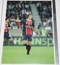PHOTO 21 X 29.5 PARIS SAINT-GERMAIN PSG DIEGO LUGANO FOOTBALL 2011-2012