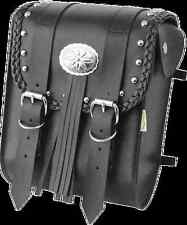 Willie & Max Black Leather Warrior Motorcycle Stud Sissy Bar Bag Harley Davidson