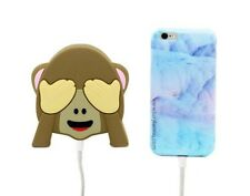 Emoji Funny Monkey Portable 2600mAh Battery Charger Power Bank See No Evil