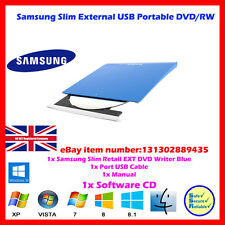 BLUE SLIM PORTATILE ULTRA EXT.. DVD + / - RW Samsung Optical Drive USB 2.0 MAC / PC
