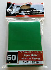 Yugioh Monster Protectors SUPER MATTE GREEN Deck Protectors/Sleeves 60ct