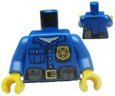 LEGO - Minifig Torso Police Shirt Gold Badge and Buckle, Black Belt w/ Pouches