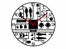 Karlsson Model Kit Plastic Wall Clock, Black