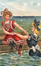 Vintage Decorative Victorian/Edwardian Beach/Seaside Scenes Colourful A4 Print12