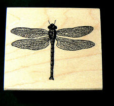 Dragonfly rubber stamp lace winged 2x1.75 WM