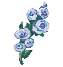 Kates Blue Roses Rose Bud Wallies Stickers 25 Chic Bunches Shabby Bouquets Decal