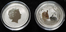 50 Cents SILVER Lunar 2 Year of The Rabbit 2011 Coloured 1/2 Oz