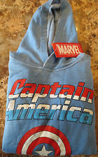 NEW Marvel Captain America Blue Hooded Hoodie Kid's Sweatshirt- Size M- NWT