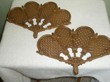 Vintage Pr Wall Decor Fans Brown Plastic Burwood Products