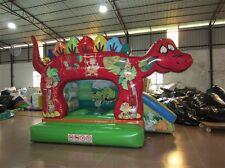Hüpfburg Dino mit Rutsche 4m x 3m x 4mh