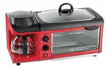 Nostalgia Electrics Retro Series 3-in-1 Family Size Breakfast Station In Red New