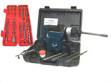 "1.5 HP 1-1/2"" ELECTRIC DEMOLITION HAMMER DRILL + 10 PC SDS DRILL BITS TOOL KIT"