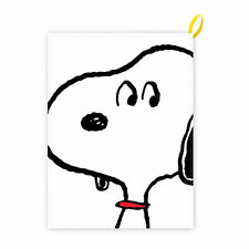 SNOOPY FACE 100% COTTON TEA TOWEL IN A TUBE RETRO KITCHEN DISH CLOTH PEANUTS DOG
