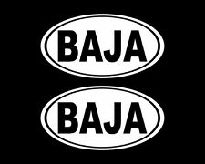 Oval Baja Decal 2 California Stickers Vinyl, Bumper, Cars, Laptop
