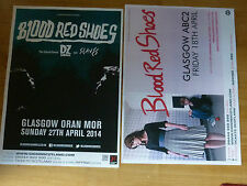 Blood Red Shoes Scottish tour Glasgow concert gig posters x 2