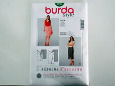 "BURDA SKIRT SEWING PATTERN MISSES' FITTED ""STYLE"" # 7196 SIZES 8 THRU 20"