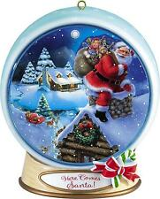 Carlton Magic Ornament 2012 Merry Christmas Santa Lenticular Globe #CXOR067B-SDB