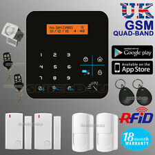 WIRELESS LCD RFID GSM AUTODIAL HOME HOUSE OFFICE SECURITY BURGLAR INTRUDER ALARM