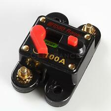 12v Car Auto Boat Audio Fuse High Power 100 Amp Manual Reset Circuit Breaker