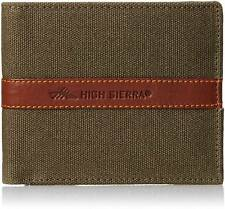 High Sierra Men Green Canvas Wallet  (4 Card Slots)