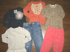 Girls huge lot 4-5 tops shirts denim jeans Crewcuts cropped pants tunic cardigan
