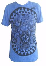 Yoga Men T Shirt Pyramid Egypt Eye Providence Zen Peace Hobo Boho M Sure cotton