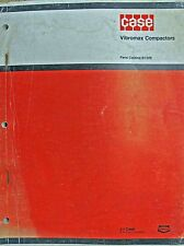 Original CASE Parts Catalog No. B1209 Vibromax Compactors 1973