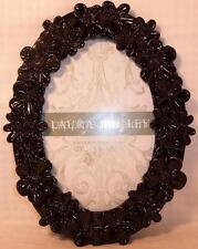 Laura Ashley Oval Black Flowers Floral Standing Photo Frame 4 x 6 picture