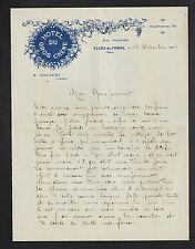 """FLERS-de-L'ORNE (61) HOTEL DU GROS CHENE """"A. GAUBERT Propriétaire"""" en 1925"""