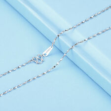 18INCH Solid Platinum 950 Necklace Bling Star Link Chain Necklace Pt950