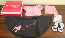 NEW American Girl Doll MARYELLEN POODLE SKIRT OUTFIT 1950s Pink Clothes NIB