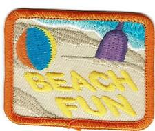 Girl Boy Cub BEACH FUN play playing Patches Crests Badge SCOUTS GUIDE Sand day