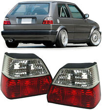 CRYSTAL CLEAR REAR TAIL LIGHTS FOR VW GOLF MK2 MK 2 8/1983-8/1991 NICE GIFT