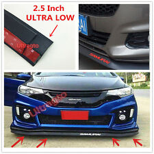 "2.5""x98"" FRONT BUMPER LIP SPLITTER BODY SPOILER VALENCE CHIN TRIM SIDE SKIRT"