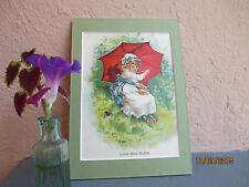 """vintage illustration of """" Little Miss Muffet """" nursery rhyme 1907"""