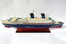 MS Achille Lauro Italian Cruise Ship Handmade Wooden Ship Model 39""