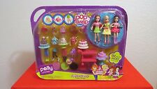 POLLY POCKET FASHION FRENZY CAKE SHOP Doll Set  Pop 'n Swap 32 pc 400 combo NEW!