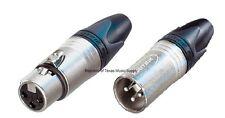 1Pair, Neutrik NC3MXX + NC3FXX XLR 3-Pin Connectors FREE US SHIPPING from TEXAS