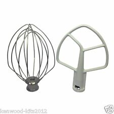 Kitchenaid Stand Mixer Replacement 5QT Beater K5AB & Wire Whisk K5AWW. Bowl Lift