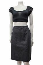 Miu Miu Black Vintage Rear pleated Skirt Size 4/6