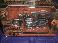 HARLEY 2003 100TH 100 YEAR ANNIVERSARY FATBOY BLACK ERTL DIECAST 1:18 MODEL