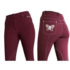 """Mark Todd Ladies Skinny Jeans Breeches Burgundy 32"""" RRP £73.50 FREE UK DELIVERY!"""