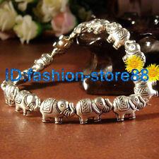 Elephant bracelet Tibetan silver Charm charming elasticity bangle