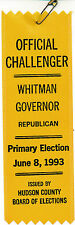 1993 Whitman for governor New Jersey NJ campaign ribbon