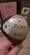 Dunlop Z-Core Reg/Mid Firm Graphite Shaft 3 Wood WITH FREE MATCHING DRIVER gc