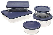 Tupperware Containers 10 Piece Set Storage Food Organizer Pyrex Glass with Lids